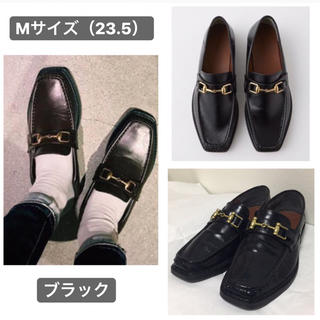 マウジー(moussy)のMOUSSY BIT ローファー ブラックM(ローファー/革靴)