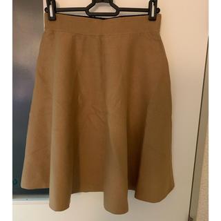 マウジー(moussy)のmoussy ニットフレアスカート(ひざ丈スカート)