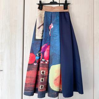 Ameri VINTAGE - アメリ油絵柄スカート