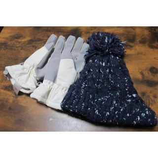 スキー スノーボード用グローブ 手袋 ニット帽 2点セット(ウエア/装備)