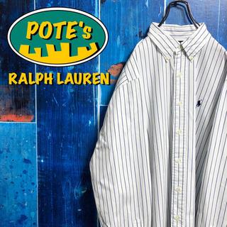 Ralph Lauren - 【ラルフローレン】ワンポイント刺繍ロゴペンシルストライプシャツ 90s