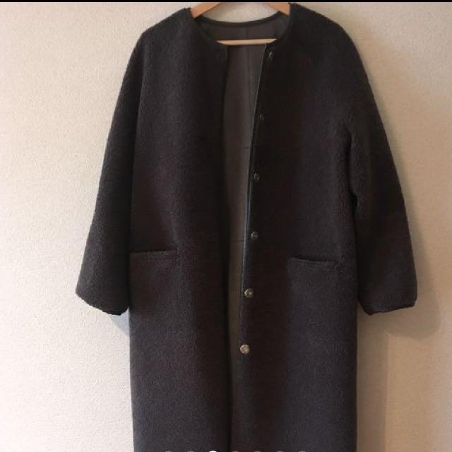 IENA(イエナ)のトラッツォドンナ  2wayノーカラーコート  美品 レディースのジャケット/アウター(ロングコート)の商品写真