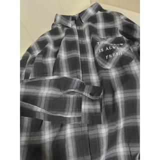 ミルクボーイ(MILKBOY)のチェックシャツ ベア ブラックLL(シャツ/ブラウス(長袖/七分))