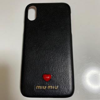 ミュウミュウ(miumiu)のmiumiu iPhoneXR ケース マドラスレザー(iPhoneケース)