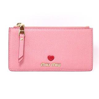miumiu - 【美品】ミュウミュウ miu miu マドラス レザー ポーチ ピンク 財布