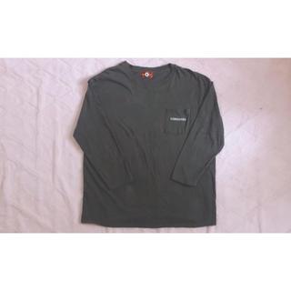 コンバース(CONVERSE)のCONVERSE カーキ 7分袖 トップス L-XL(Tシャツ/カットソー(七分/長袖))