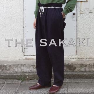 コモリ(COMOLI)のthe Sakaki  居間着パンツ M  インディゴ(スラックス)