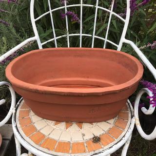 長方形テラコッタ素焼き鉢 植木鉢 ガーデニング 園芸 陶器 寄せ植え