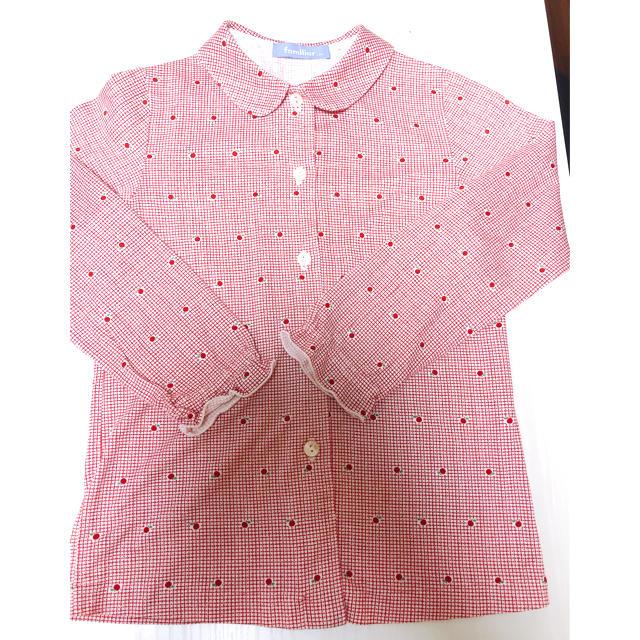 familiar(ファミリア)のファミリア ブラウス 120 キッズ/ベビー/マタニティのキッズ服女の子用(90cm~)(ブラウス)の商品写真