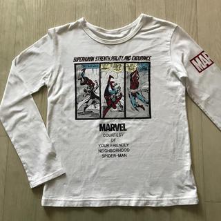 ベルメゾン(ベルメゾン)の【MARVEL】長袖Tシャツ/スパイダーマン/白/150cm(Tシャツ/カットソー)