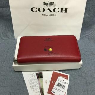COACH - COACH コーチ 長財布 F53773  レッド  スヌーピー  レディース