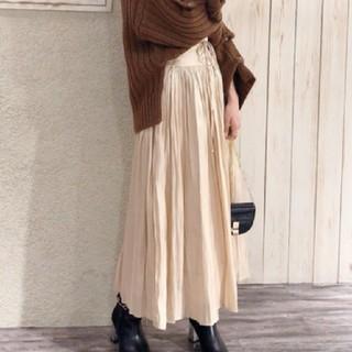 ミスティウーマン(mysty woman)のミスティウーマン レースアッププリーツスカート(ロングスカート)