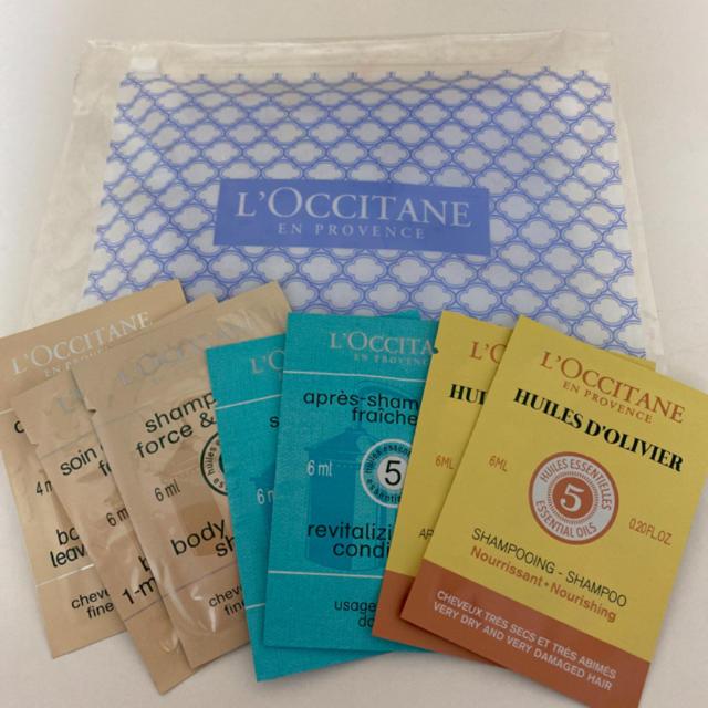 L'OCCITANE(ロクシタン)の【12包】ロクシタン タオルマスク&サンプルセット コスメ/美容のキット/セット(サンプル/トライアルキット)の商品写真
