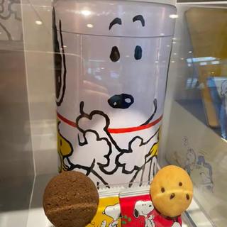 スヌーピー(SNOOPY)の2021.01,25 ユニバ USJ スヌーピー クッキー 貯金箱 新品 (菓子/デザート)