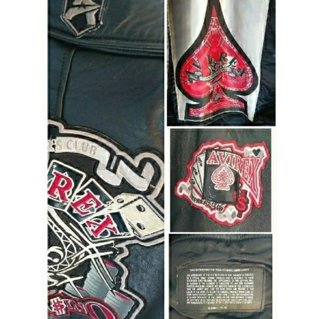 AVIREX(アヴィレックス)の希少 AVIREX 本革 レザージャケット M メンズのジャケット/アウター(レザージャケット)の商品写真