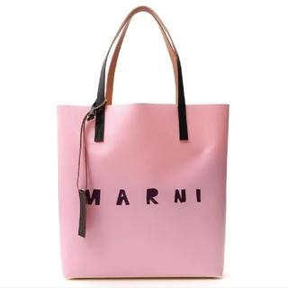 Marni - MARNI マルニ 新品 本物 トートバッグ ロゴ ベビーピンク