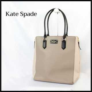kate spade new york - 【A4対応】ケイトスペード★レザー ショルダーバッグ 通勤 グレージュ リボン