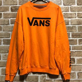 VANS - バンズ VANS スウェット トレーナー オレンジ Lサイズ デカロゴ
