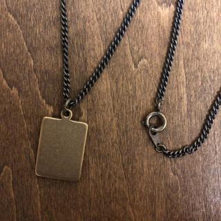 BRASS 真鍮無垢 プレートネックレス 真鍮製 日本製