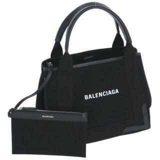 Balenciaga - バレンシアガ BALENCIAGA ネイビー カバ S キャンバストートバッグ