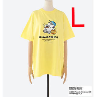 SNOOPY - 【銀座三越限定】WIND AND SEA / SNOOPY オラフ Tシャツ 黄