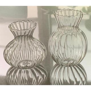 フラワーベース 花瓶 瓶 小瓶 一輪差し ストライプ カフェインテリア 可愛い