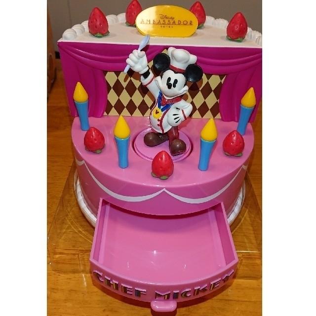 Disney(ディズニー)のバースデーケーキ型オルゴール(HAPPY WISH DAY) エンタメ/ホビーのおもちゃ/ぬいぐるみ(キャラクターグッズ)の商品写真