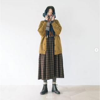 SM2 - 今季カタログ掲載 ☆sm2☆ スタンドネックチェックワンピース キャメル 新品