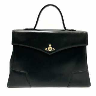 Vivienne Westwood -  ヴィヴィアンウエストウッド オーブ チャーム付き レザー ビジネスバッグ