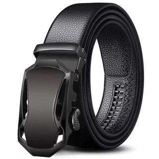 メンズ ベルト  自動ロック サイズ調整可能120cm