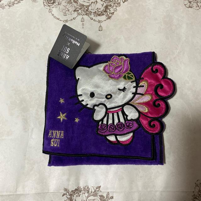 ANNA SUI(アナスイ)の本日限定価格新品タグ付きANNA SUI×キティちゃんポケット付きタオルハンカチ レディースのファッション小物(ハンカチ)の商品写真