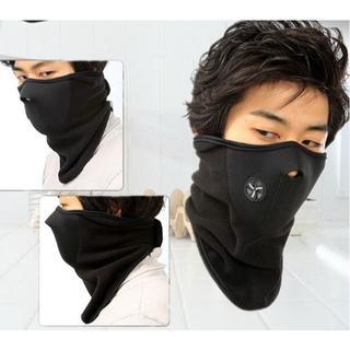 新品 防寒用フェイスマスク 黒 ネックウォーマー 送料無料