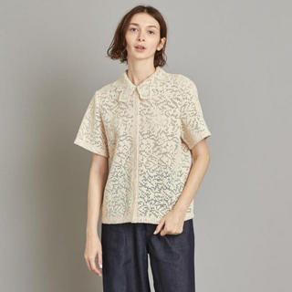 BEAUTY&YOUTH UNITED ARROWS - steven alan //LACE SHORT SLEEVE BLOUSE