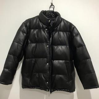 AVIREX - AVIREXレザーダウンジャケット 羊革 ブラック L