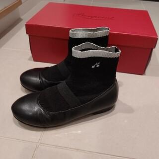 ボンポワン(Bonpoint)のbonpoint ボンポワン ソックスブーツ 黒 33(ブーツ)