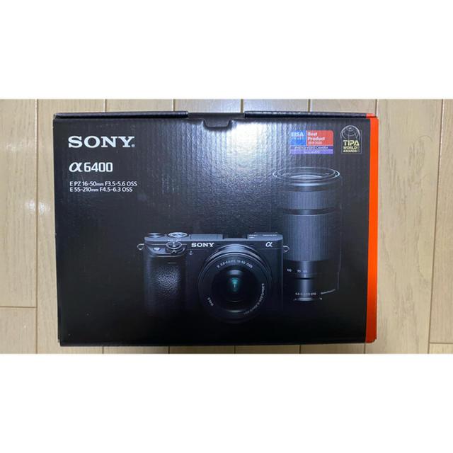 SONY(ソニー)のミラーレス一眼カメラ α6400 ダブルズームレンズキット ILCE-6400Y スマホ/家電/カメラのカメラ(ミラーレス一眼)の商品写真