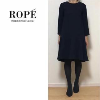 ROPE - ROPE☆ワンピース☆フレアワンピース☆ネイビー