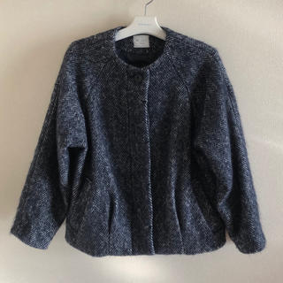 bulle de savon - yuni ユニ ツイード ショート丈コート