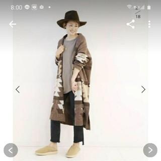 ドゥーズィエムクラス(DEUXIEME CLASSE)のcanadian Sweater jacquard ニットガウン(ニットコート)