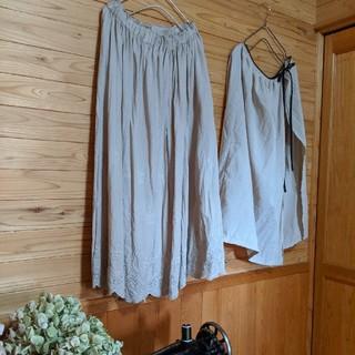 24 きなりスカラップスカート75(ロングスカート)