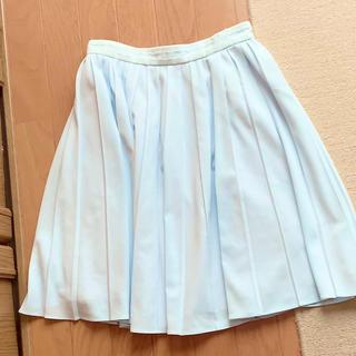 ロディスポット(LODISPOTTO)の膝丈 プリーツスカート ブルー(ひざ丈スカート)