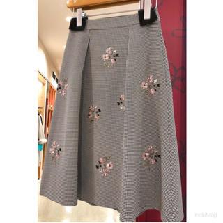 LAISSE PASSE - レッセパッセ 千鳥刺繍スカート