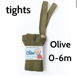 Caramel baby&child  - (新品未使用)sillysilas シリーサイラス タイツ olive 0-6m