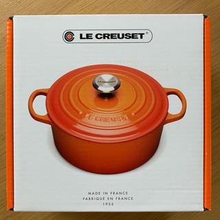 ルクルーゼ(LE CREUSET)のホーロー鍋 シグニチャー ココット・ロンド (シルバーツマミ) マットブラック(鍋/フライパン)