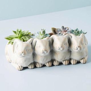 ウサギのガーデンポット うさぎ ラビット バニー プランター 植木鉢 鉢カバー(プランター)