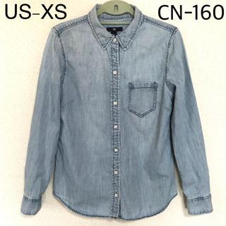 ギャップ(GAP)のGAP レディース デニム シャツ L 160 US-XS(シャツ/ブラウス(長袖/七分))