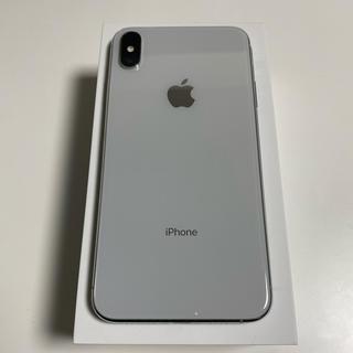 アイフォーン(iPhone)の【SIMロック解除済】iphoneXS MAX 256GB シルバー(携帯電話本体)