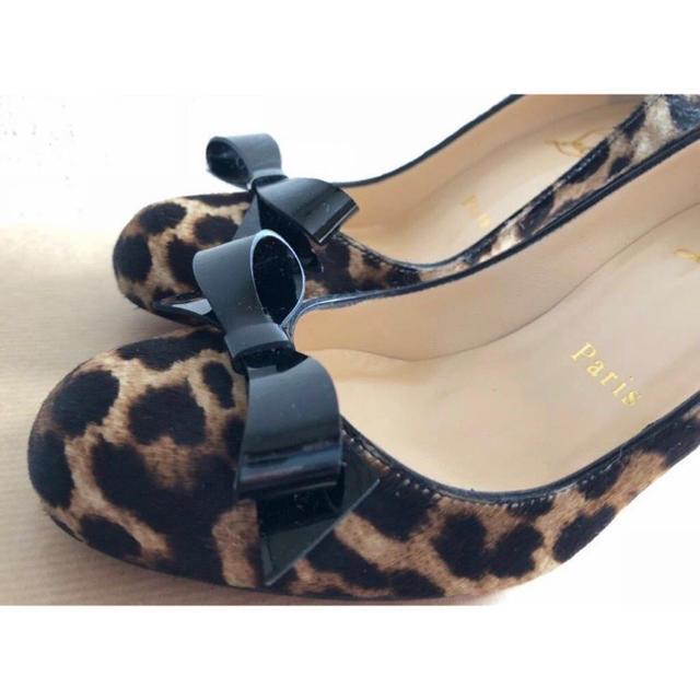 Christian Louboutin(クリスチャンルブタン)の新品 クリスチャンルブタン レオパード リボンパンプス レディースの靴/シューズ(ハイヒール/パンプス)の商品写真