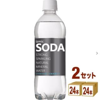 強炭酸水 izmic SODA ソーダ 500ml 48本 天然水 炭酸水 (ミネラルウォーター)