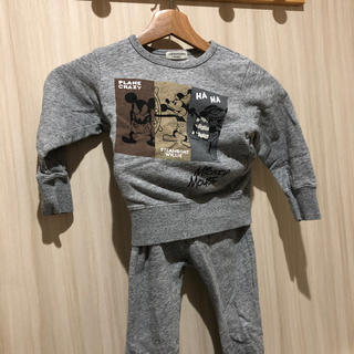 アンパサンド(ampersand)のampersand ディズニー トレーナー セット 100cm(Tシャツ/カットソー)